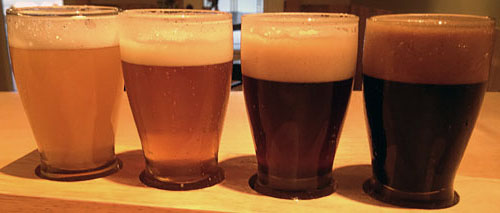 Our four craft-brewed beers